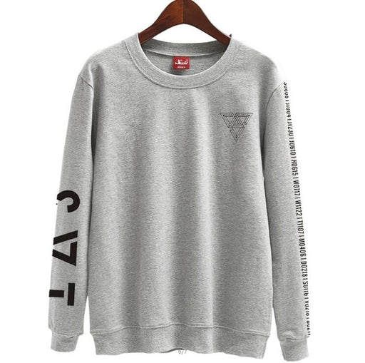 Seventeen japan arena svt concertame printing o neck thin Sweatshirt tshirtpring autumn unisex loose pullover hoodies - Kpopshop