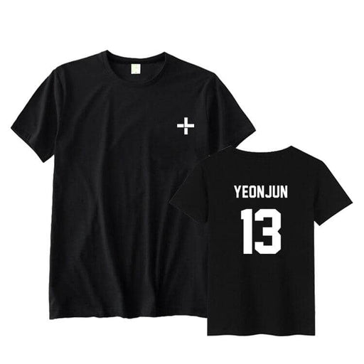 Kpop txt tomorrow together member name unisex kpop black/white t-shirt