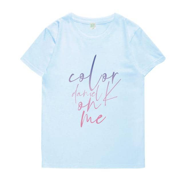 Kpop Newest Kpop wanna one daniel color one me album printing t shirt unisex summer style fashion o neck short sleeve t-shirt that you'll fall in love with. At an affordable price at KPOPSHOP, We sell a variety of Kpop wanna one daniel color one me album printing t shirt unisex summer style fashion o neck short sleeve t-shirt with Free Shipping.