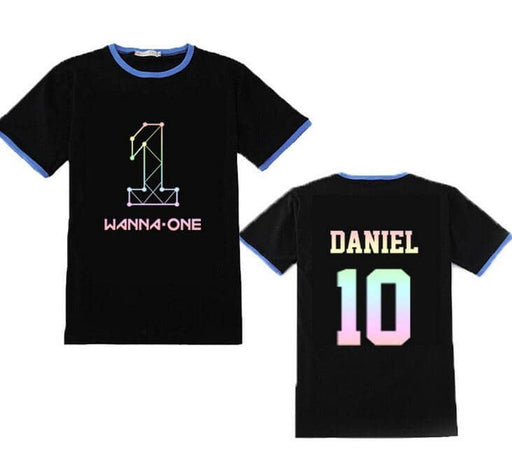 Kpop Newest Kpop wanna one member name laser printing black t shirt for summer unisex fashion o neck short sleeve t-shirt lovers top tees that you'll fall in love with. At an affordable price at KPOPSHOP, We sell a variety of Kpop wanna one member name laser printing black t shirt for summer unisex fashion o neck short sleeve t-shirt lovers top tees with Free Shipping.