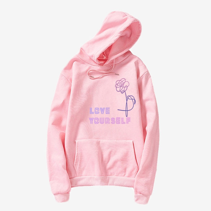 Kpop Newest BTS Love Yourself  Kpop hoodies Enjoy loving your own Kpop ladies hoodie! Bangtan boy with hat sweatshirt Love Yourself Sweatshirt that you'll fall in love with. At an affordable price at KPOPSHOP, We sell a variety of BTS Love Yourself  Kpop hoodies Enjoy loving your own Kpop ladies hoodie! Bangtan boy with hat sweatshirt Love Yourself Sweatshirt with Free Shipping.