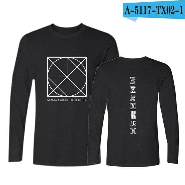 Kpop Newest MONSTA X Printed Long Sleeve T-Shirts Women/Men Tops Korean Style Pullover t-shirt cotton Streetwear Tee Shirt that you'll fall in love with. At an affordable price at KPOPSHOP, We sell a variety of MONSTA X Printed Long Sleeve T-Shirts Women/Men Tops Korean Style Pullover t-shirt cotton Streetwear Tee Shirt with Free Shipping.