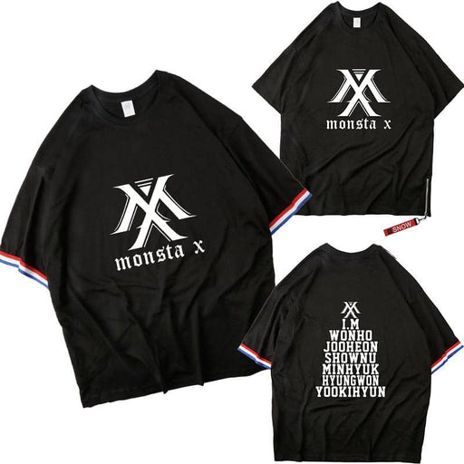 Kpop Newest MONSTA X The Same Paragraph Short-sleeved T-shirt Men And Women Shoulders Paragraph Seven-point Sleeves Summer Dropshipping that you'll fall in love with. At an affordable price at KPOPSHOP, We sell a variety of MONSTA X The Same Paragraph Short-sleeved T-shirt Men And Women Shoulders Paragraph Seven-point Sleeves Summer Dropshipping with Free Shipping.