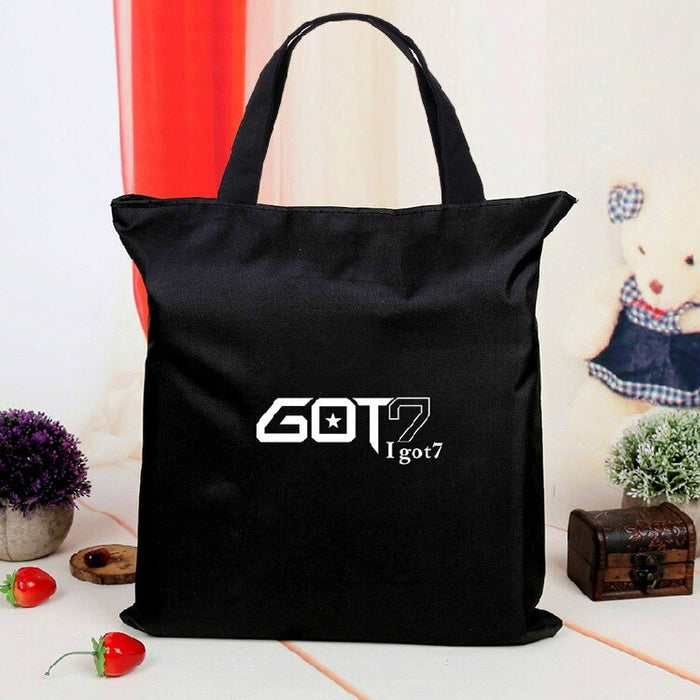 [MYKPOP]GOT7 Canvas Bag Casual Bag KPOP Fans Collection SA18080101