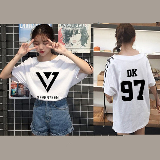 Kpop Newest KPOP SEVENTEEN 17 T-shirt Tops Tshirt DINO Short Sleeve JOSHUA Cotton Vernon Tee that you'll fall in love with. At an affordable price at KPOPSHOP, We sell a variety of KPOP SEVENTEEN 17 T-shirt Tops Tshirt DINO Short Sleeve JOSHUA Cotton Vernon Tee with Free Shipping.