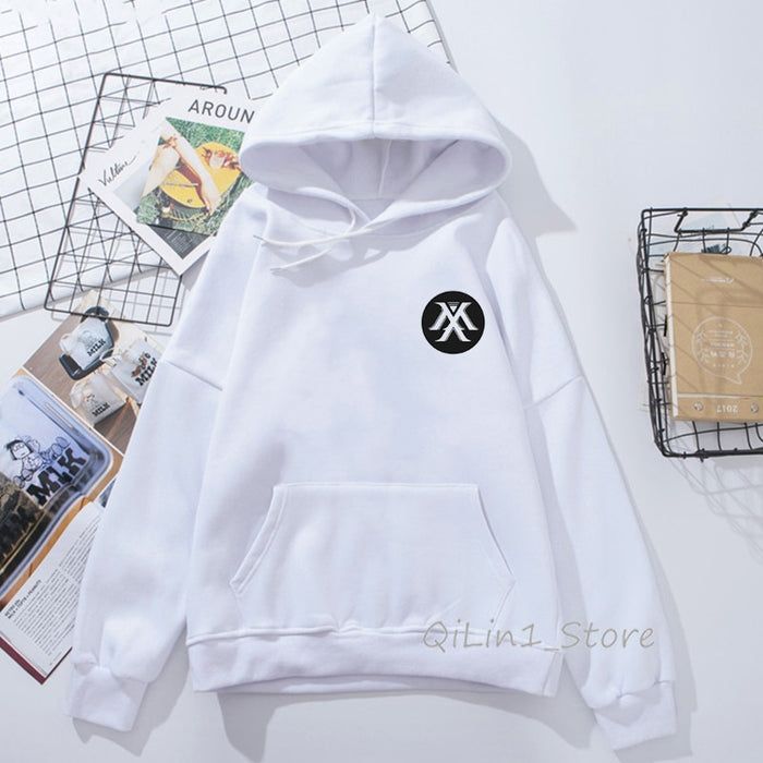 Monsta X hoodie Women Men Wanna One Sweatshirt Kpop  Fans Fleece Hooded Tracksuit punk Pullover oversize streetwear - Kpopshop