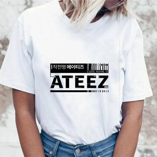 Kpop Newest Multiple K-pop Blackpink Ateez T Shirt Women TXT Twice Tshirt Kpop Exo Boy with Luv Tees T-shirt Female Nct127 that you'll fall in love with. At an affordable price at KPOPSHOP, We sell a variety of Multiple K-pop Blackpink Ateez T Shirt Women TXT Twice Tshirt Kpop Exo Boy with Luv Tees T-shirt Female Nct127 with Free Shipping.