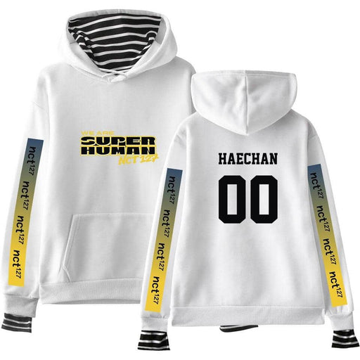 Kpop Newest NCT 127 New WE ARE SUPERHUMAN fake two hoodies fashion Kpop hooded sweatshirt 2019 new trend street casual wear hoodies 4XL that you'll fall in love with. At an affordable price at KPOPSHOP, We sell a variety of NCT 127 New WE ARE SUPERHUMAN fake two hoodies fashion Kpop hooded sweatshirt 2019 new trend street casual wear hoodies 4XL with Free Shipping.