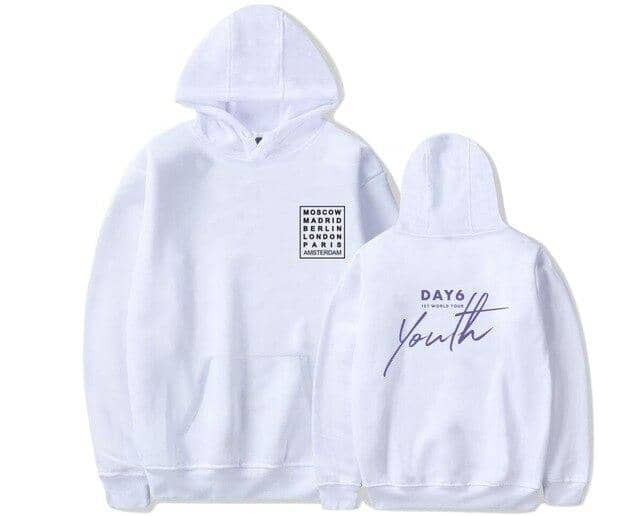 Kpop Newest New arrival Day6 Youth in EUROPE Album World Tour Hoodie Harajuku Hooded Sweatshirt pullover that you'll fall in love with. At an affordable price at KPOPSHOP, We sell a variety of New arrival Day6 Youth in EUROPE Album World Tour Hoodie Harajuku Hooded Sweatshirt pullover with Free Shipping.