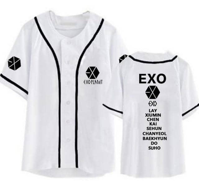 Kpop Newest New arrival exo planet all member name printing baseball t-shirt for summer kpop exo L single breasted short sleeve t shirt that you'll fall in love with. At an affordable price at KPOPSHOP, We sell a variety of New arrival exo planet all member name printing baseball t-shirt for summer kpop exo L single breasted short sleeve t shirt with Free Shipping.