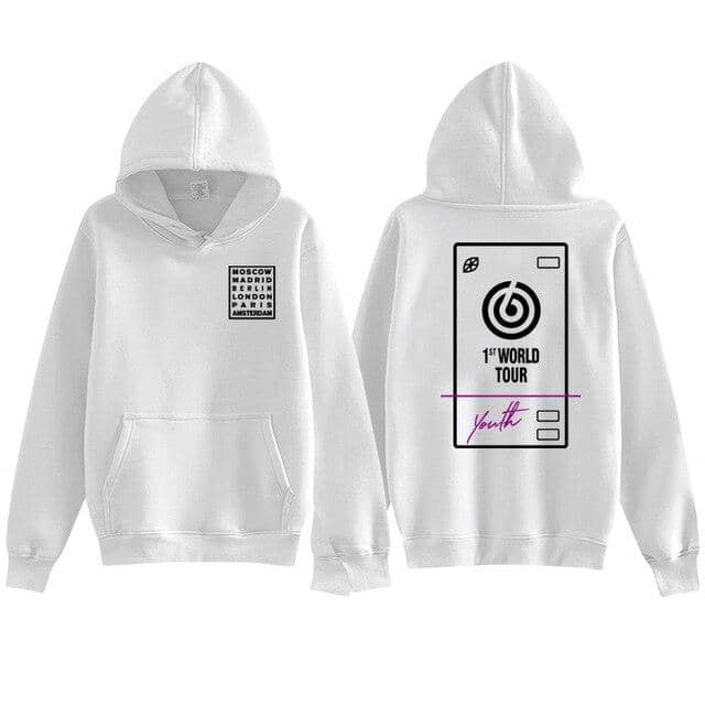 Kpop Newest New arrival kpop day6 world tour youth in europe same printing pullover hoodies fashion unisex fleece/thin loose sweatshirt that you'll fall in love with. At an affordable price at KPOPSHOP, We sell a variety of New arrival kpop day6 world tour youth in europe same printing pullover hoodies fashion unisex fleece/thin loose sweatshirt with Free Shipping.