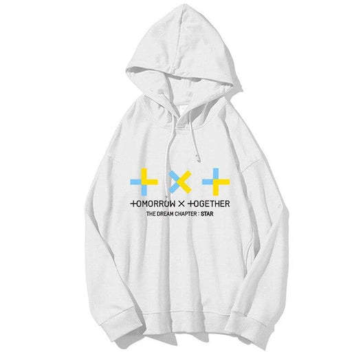 Kpop Newest New kpop TXT concert The Dream Chapter Star Hooded Sweatshirt Large size unisex pullovers Hoodie Harajuku Street sweatshirt that you'll fall in love with. At an affordable price at KPOPSHOP, We sell a variety of New kpop TXT concert The Dream Chapter Star Hooded Sweatshirt Large size unisex pullovers Hoodie Harajuku Street sweatshirt with Free Shipping.