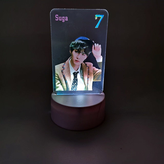 BTS Newest Bangtan Boys Map of the Soul:7 The same style of colorful acrylic Nightlight table lamp