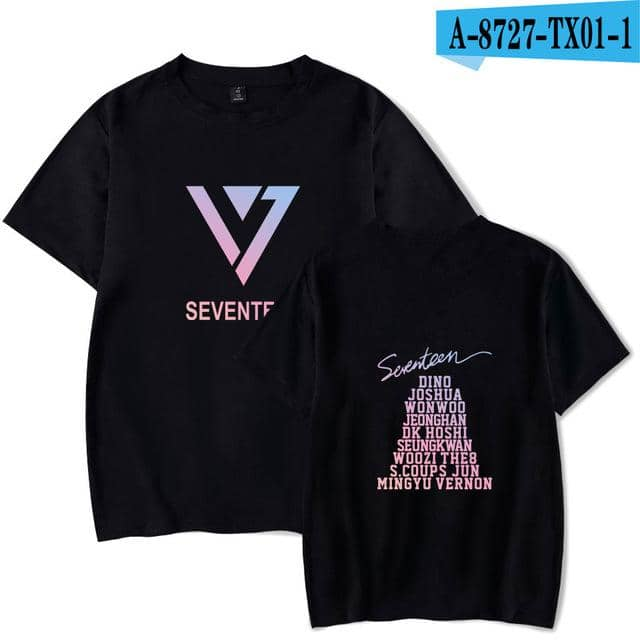 Kpop Newest SEVENTEEN kpop Summer Cool T-shirt Men/Women Short Sleeve Fashion  Print tshirt SEVENTEEN Casual Tee shirts Streetwear Clothes that you'll fall in love with. At an affordable price at KPOPSHOP, We sell a variety of SEVENTEEN kpop Summer Cool T-shirt Men/Women Short Sleeve Fashion  Print tshirt SEVENTEEN Casual Tee shirts Streetwear Clothes with Free Shipping.