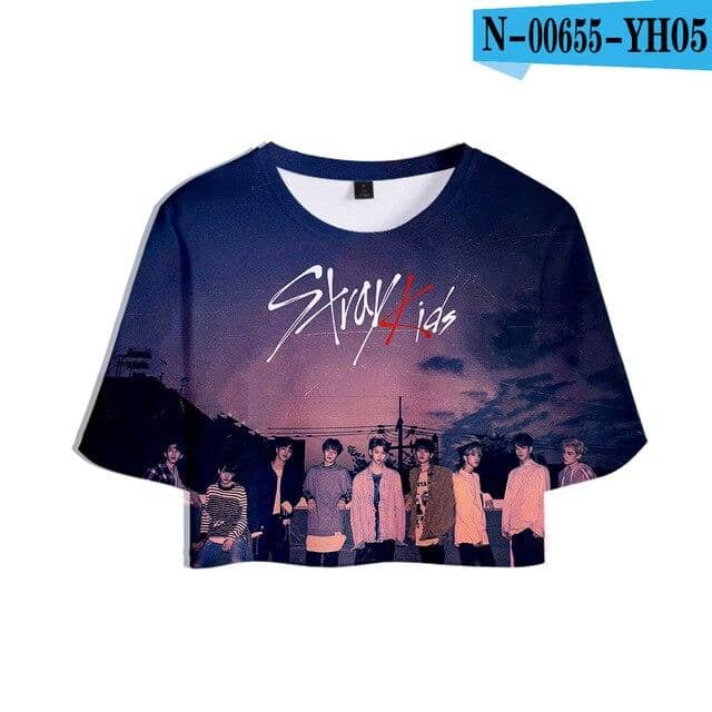 Kpop Newest Stray Kids 3D Printed Women Crop Tops Kpop Fashion Summer Short Sleeve T-shirts 2019 Hot Sale Casual Girls Sexy Tee Shirts that you'll fall in love with. At an affordable price at KPOPSHOP, We sell a variety of Stray Kids 3D Printed Women Crop Tops Kpop Fashion Summer Short Sleeve T-shirts 2019 Hot Sale Casual Girls Sexy Tee Shirts with Free Shipping.
