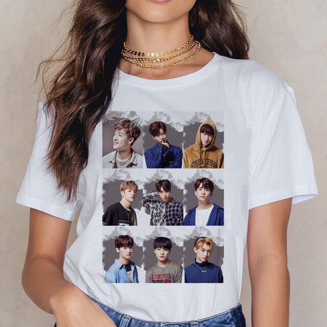 Stray Kids t shirt t-shirt femme kawaii ulzzang clothes aesthetic