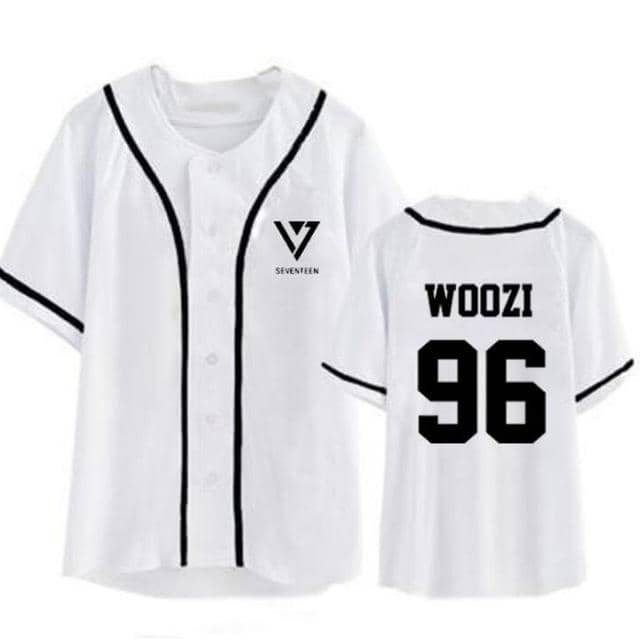 Kpop Newest Summer Korean Fashion Hip Hop Baseball T Shirt KPOP Seventeen 17 Short Sleeve T-Shirt Women Men Baseball Uniform Couple Shirt that you'll fall in love with. At an affordable price at KPOPSHOP, We sell a variety of Summer Korean Fashion Hip Hop Baseball T Shirt KPOP Seventeen 17 Short Sleeve T-Shirt Women Men Baseball Uniform Couple Shirt with Free Shipping.