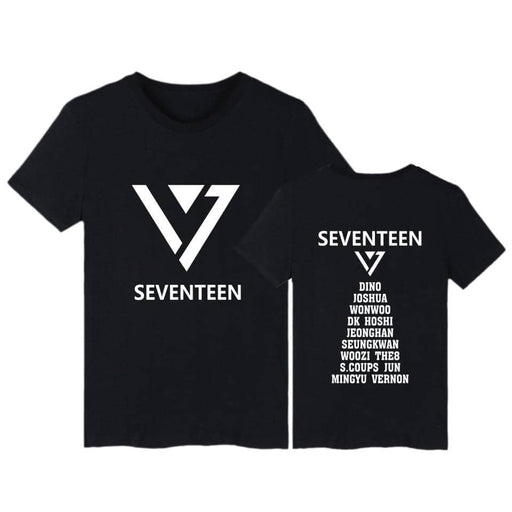 Kpop Newest Summer Kpop Seventeen T Shirt with Short Sleeve Fashion Cotton T-Shirt Seventeen tshirt for Young teen Plus Size tee Clothing that you'll fall in love with. At an affordable price at KPOPSHOP, We sell a variety of Summer Kpop Seventeen T Shirt with Short Sleeve Fashion Cotton T-Shirt Seventeen tshirt for Young teen Plus Size tee Clothing with Free Shipping.