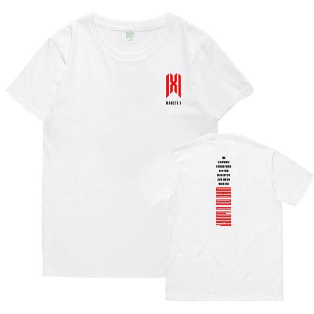 Kpop Newest Summer style kpop monsta x album who do u love member name printing o neck short sleeve t shirt fashion unisex t-shirt that you'll fall in love with. At an affordable price at KPOPSHOP, We sell a variety of Summer style kpop monsta x album who do u love member name printing o neck short sleeve t shirt fashion unisex t-shirt with Free Shipping.