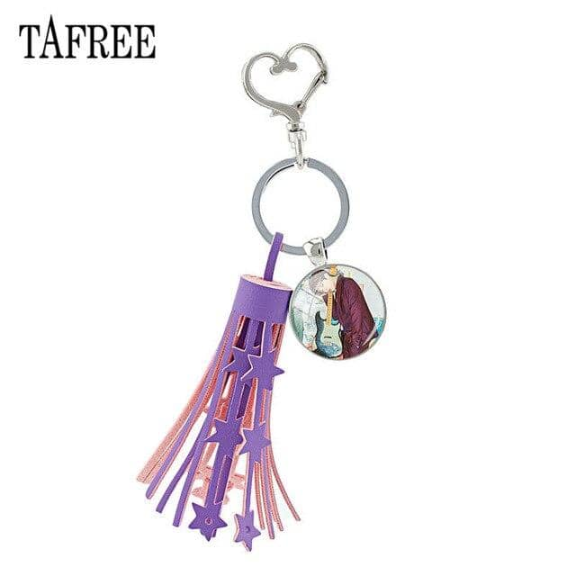 Kpop Newest TAFREE Purple Tassel Heart Clasps Key Ring Holder Glass Day6 DAY 6 Cabochon Dome Pendant Keychain For Fan Gift  Day17 that you'll fall in love with. At an affordable price at KPOPSHOP, We sell a variety of TAFREE Purple Tassel Heart Clasps Key Ring Holder Glass Day6 DAY 6 Cabochon Dome Pendant Keychain For Fan Gift  Day17 with Free Shipping.