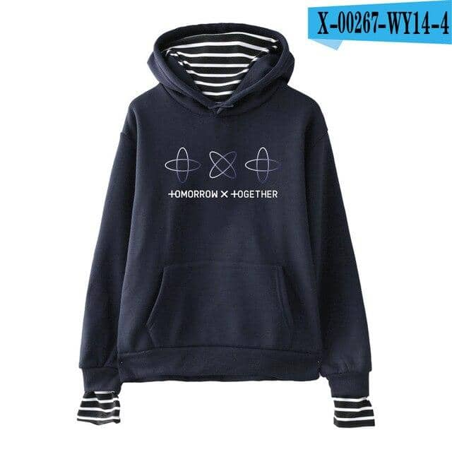 TXT Kpop New Fake Two Pieces New Style TOMORROW X TOGETHER Hooded - Kpopshop