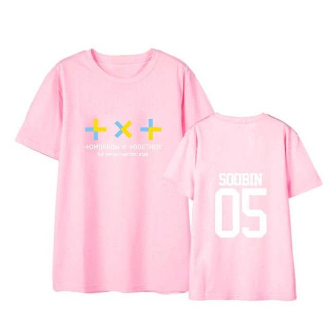 TXT Kpop Member name  TXT korean  women men tops - Kpopshop