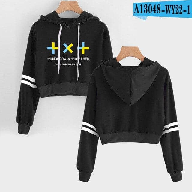 Kpop Newest TXT Navel Hoodies Sweatshirt Idol Hip Hop New Casual Fashion Kpop TOMORROW X TOGETHER Hoodies Outwear High Street Sweatshirt that you'll fall in love with. At an affordable price at KPOPSHOP, We sell a variety of TXT Navel Hoodies Sweatshirt Idol Hip Hop New Casual Fashion Kpop TOMORROW X TOGETHER Hoodies Outwear High Street Sweatshirt with Free Shipping.