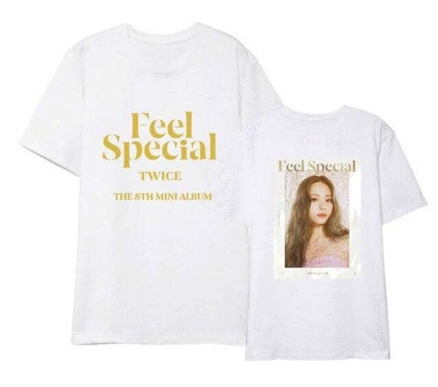 Kpop Newest Twice new album feel special same member photo printing t shirt for summer kpop unisex fashion o neck short sleeve t-shirt that you'll fall in love with. At an affordable price at KPOPSHOP, We sell a variety of Twice new album feel special same member photo printing t shirt for summer kpop unisex fashion o neck short sleeve t-shirt with Free Shipping.