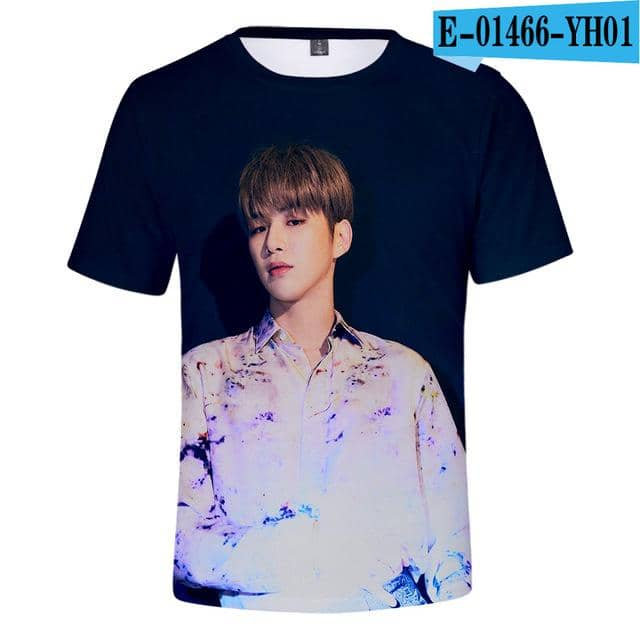 Kpop Newest WANNA ONE Kang Daniel Summer 3D Cool Fashion short-sleeved T-shirt Korean Women/men/Kids version loose summer O-neck T-shirt that you'll fall in love with. At an affordable price at KPOPSHOP, We sell a variety of WANNA ONE Kang Daniel Summer 3D Cool Fashion short-sleeved T-shirt Korean Women/men/Kids version loose summer O-neck T-shirt with Free Shipping.