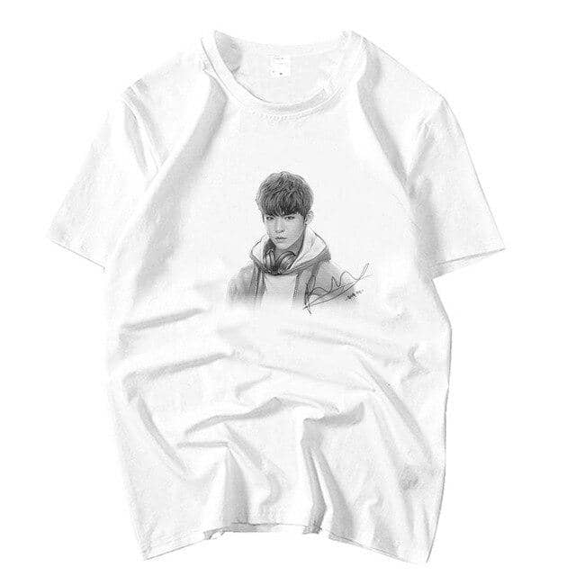 Kpop Newest Wanna one member hand drawing and signature printing o neck short sleeve t shirt summer kpop unisex white loose t-shirt that you'll fall in love with. At an affordable price at KPOPSHOP, We sell a variety of Wanna one member hand drawing and signature printing o neck short sleeve t shirt summer kpop unisex white loose t-shirt with Free Shipping.
