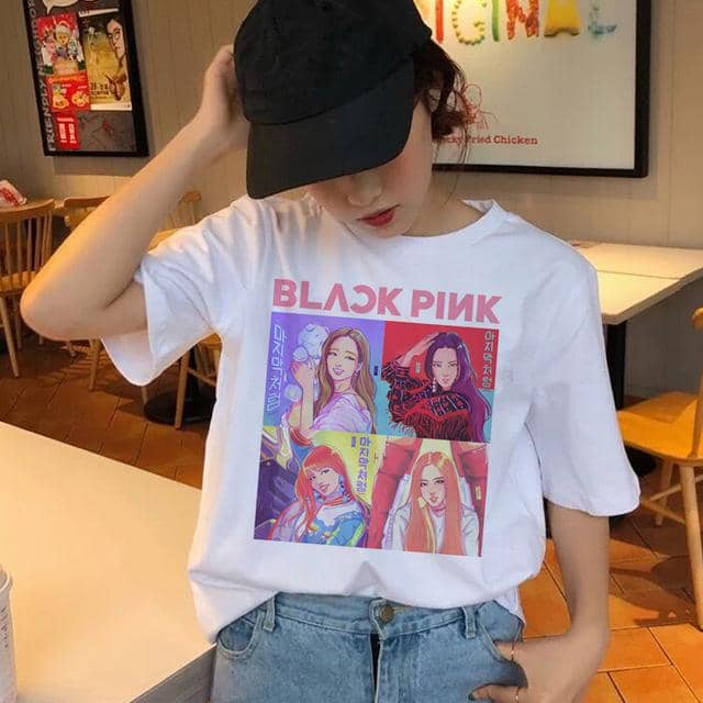 Kpop Newest blackpink korean t shirt women female top tee shirts hip hop summer t-shirt 90s kawaii femme graphic streetwear harajuku tshirt that you'll fall in love with. At an affordable price at KPOPSHOP, We sell a variety of blackpink korean t shirt women female top tee shirts hip hop summer t-shirt 90s kawaii femme graphic streetwear harajuku tshirt with Free Shipping.