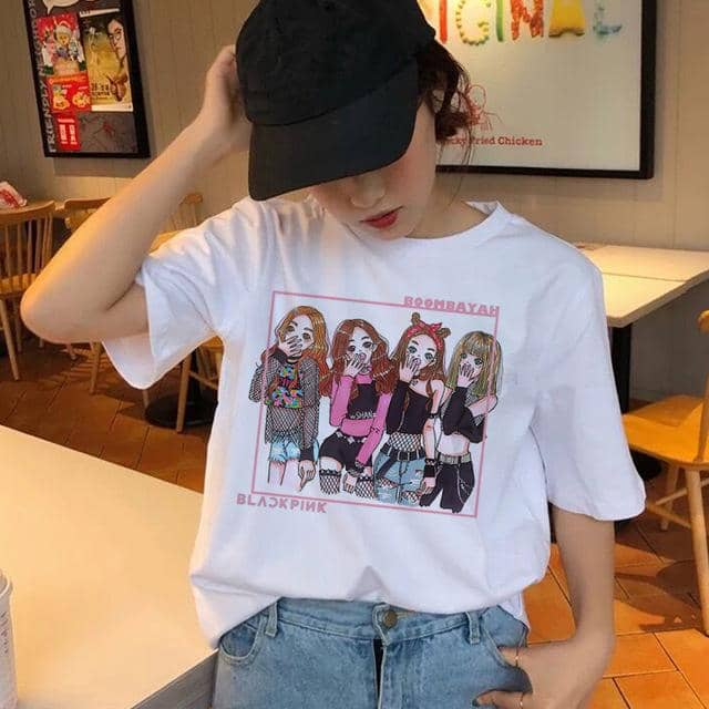 Kpop Newest blackpink t shirt women top tee shirts korean summer 90s hip hop kawaii femme graphic female streetwear tshirt harajuku t-shirt that you'll fall in love with. At an affordable price at KPOPSHOP, We sell a variety of blackpink t shirt women top tee shirts korean summer 90s hip hop kawaii femme graphic female streetwear tshirt harajuku t-shirt with Free Shipping.