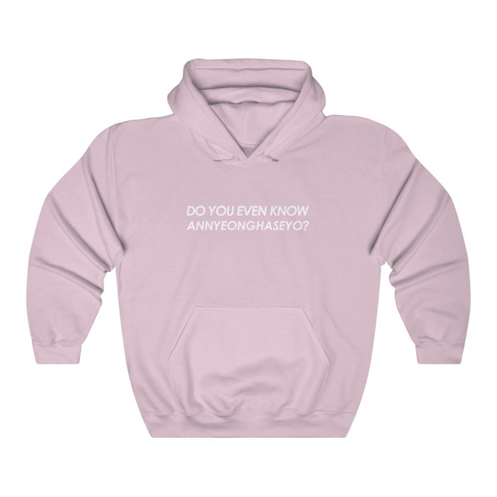 Do You Even Know Annyeonghaseyo? Hoodie - Trendy Winter Kpop Hoodies - Kpop Hooded Sweater