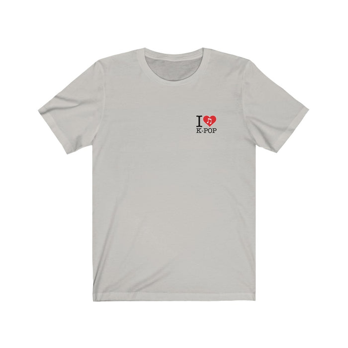 I Love Kpop Badge Unisex T-Shirt - Kpopshop