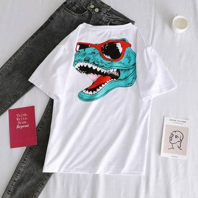 Kpopshop Originals - korean Stripped New for Women tees Tops embroidery 90's girls  Streetwear - Kpopshop