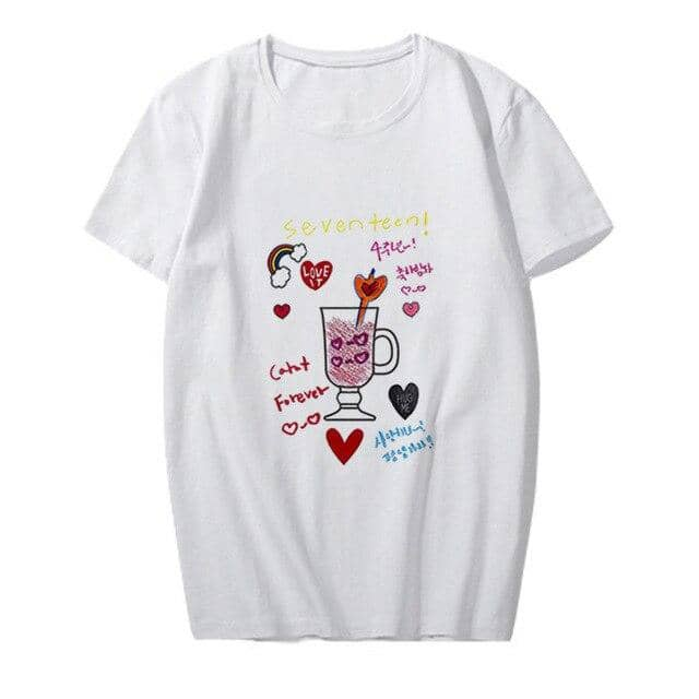 Kpop Newest kpop Seventeen 4th Commemoration Graffiti Short sleeve printed T-shirt kpop kawaii T shirt korean clothes funny t shirts tops that you'll fall in love with. At an affordable price at KPOPSHOP, We sell a variety of kpop Seventeen 4th Commemoration Graffiti Short sleeve printed T-shirt kpop kawaii T shirt korean clothes funny t shirts tops with Free Shipping.