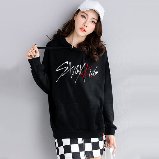 stray kids Sweatshirt tshirt kpop oversized hoodie graphic print Korean clothes harajuku Sweatshirt t femme oversize ladies fall clothing - Kpopshop