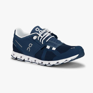 On Running Cloud Women's Shoes Denim/ White