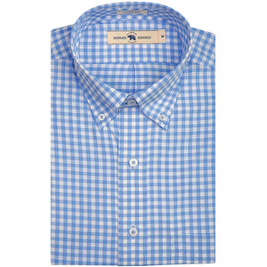 Onward Reserve Classic Fit Performance Button Down - Sky Blue Gingham