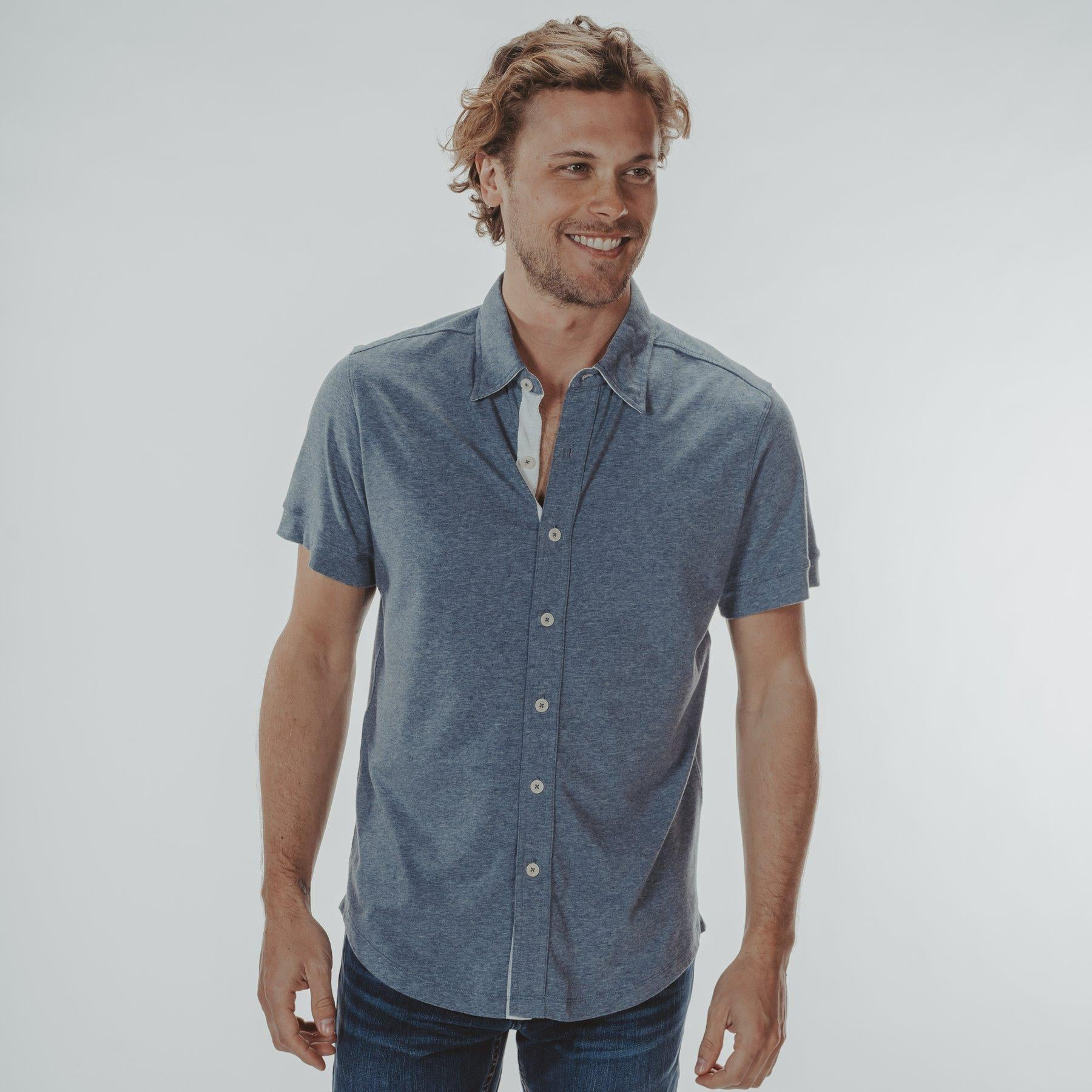 Normal brand Active Puremeso Short Sleeve Button Down