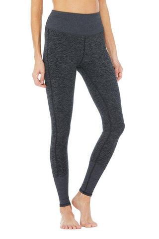 Alo High Waist Lounge Legging - Dark Heather Grey
