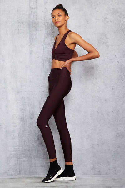 Alo 7/8 High-Waist Airlift Legging - Oxblood