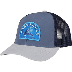 Marsh Wear Fins and Feathers Truckers Hat Slate Blue