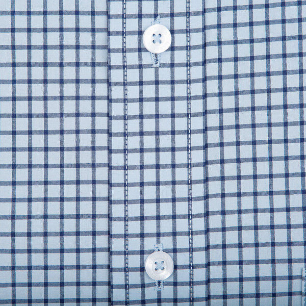 Onward Reserve Classic Fit Stretch Cotton Button Down - Sky Tattersall