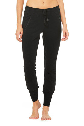 Alo Urban Moto Sweatpant - Black