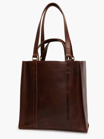 Able Elsabet Double Handle Tote - Chocolate