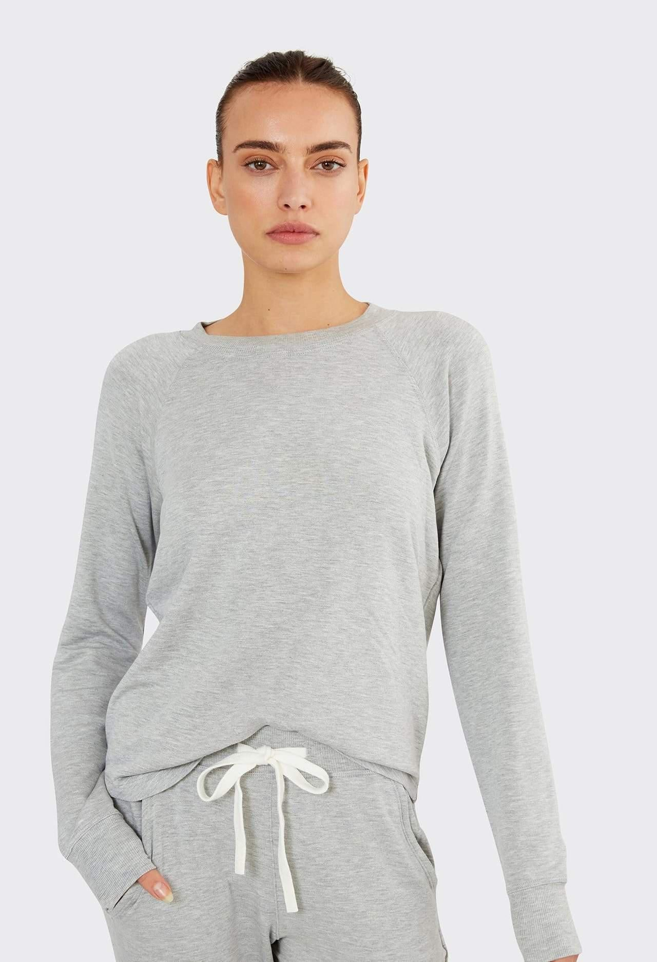 Splits 59 Warm Up Fleece Sweatshirt - Heather Grey