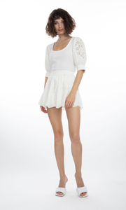 Generation Love Daria Embroidered Skirt - White