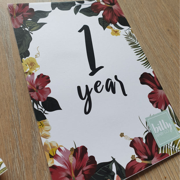 Baby Milestone Cards - FREE download 0-12 months