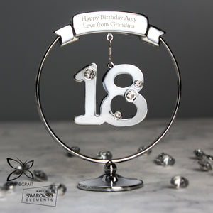 Personalised Crystocraft Silver Plated 18th Birthday Keepsake